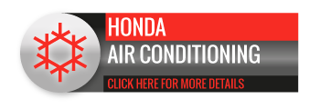 Black, grey and red Honda Air Conditioning call to action button, with image of snowflake