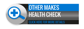 Black, grey and blue Other Makes Health Check call to action button, with image of magnifying glass