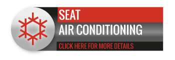 Black, grey and red SEAT Air Conditioning call to action button, with image of snowflake