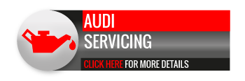 Black, grey and red Audi Servicing call to action button, with oil can image
