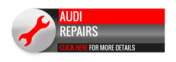Black, grey and red Audi Repairs call to action button, with spanner image